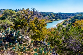 photo showing a view Of the Texas Pedernales River