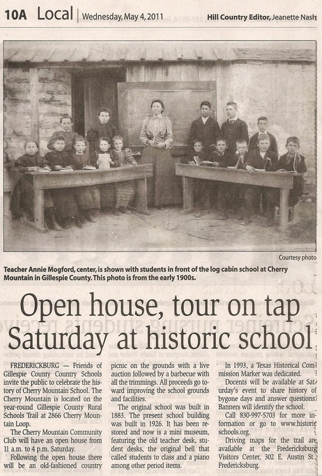 image of news article featuring Cherry Mountain school